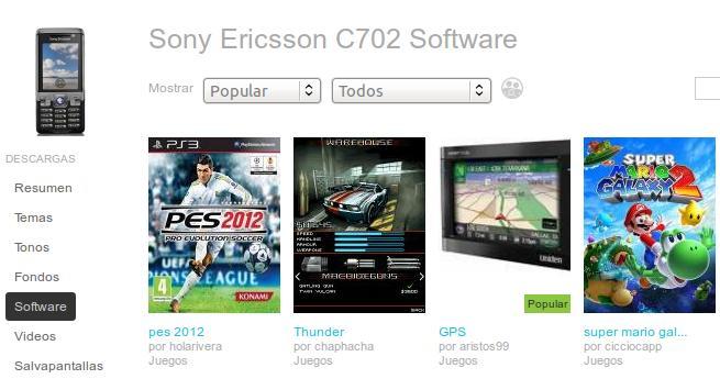 Juegos para Sony Ericsson