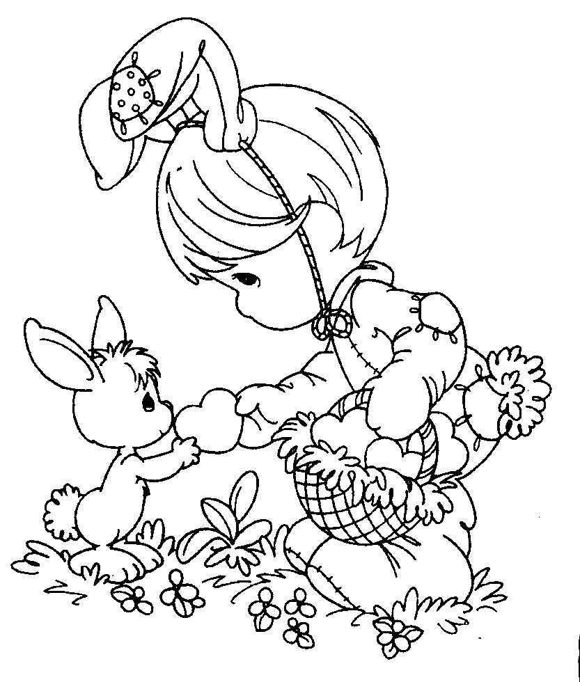 Dibujos de Pascua para colorear y pintar