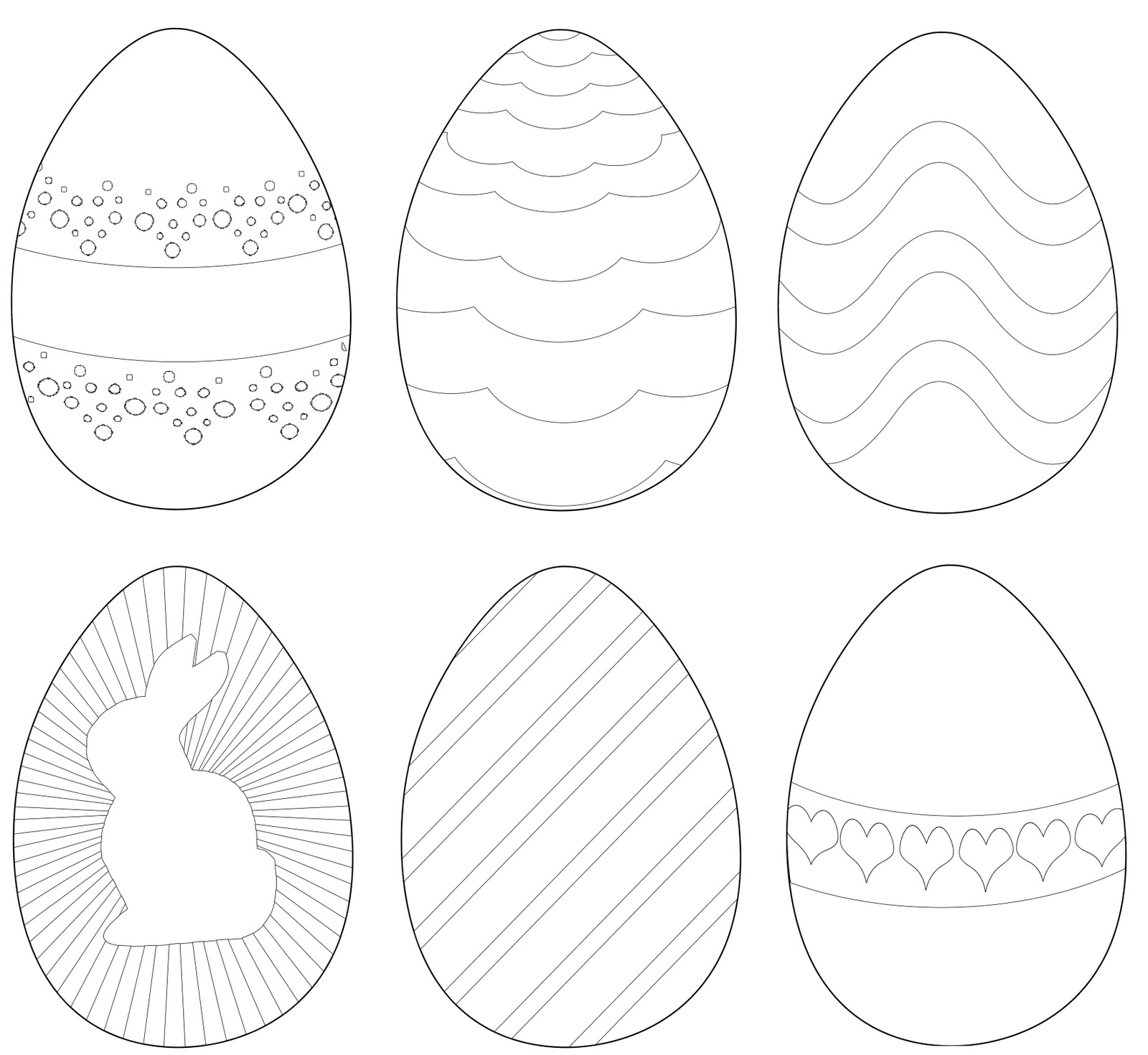 Magnífico Páginas Para Colorear Huevos De Pascua Motivo - Dibujos ...