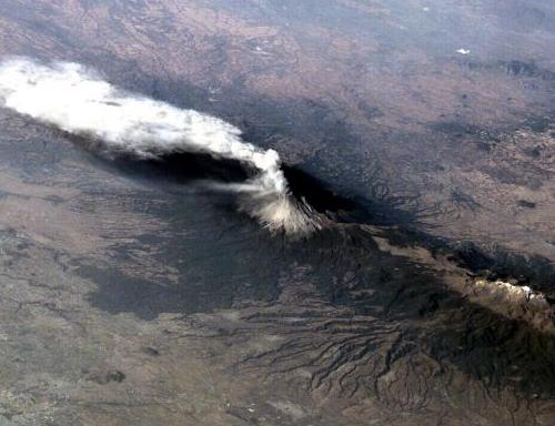 Popocatépetl volcan visto desde lejos