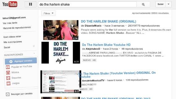 efecto harlem shake en youtube