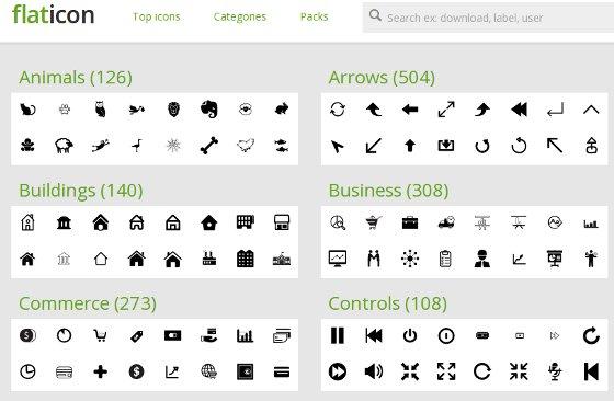 flaticon web de iconos vectoriales