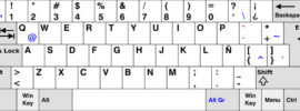 teclado español latino